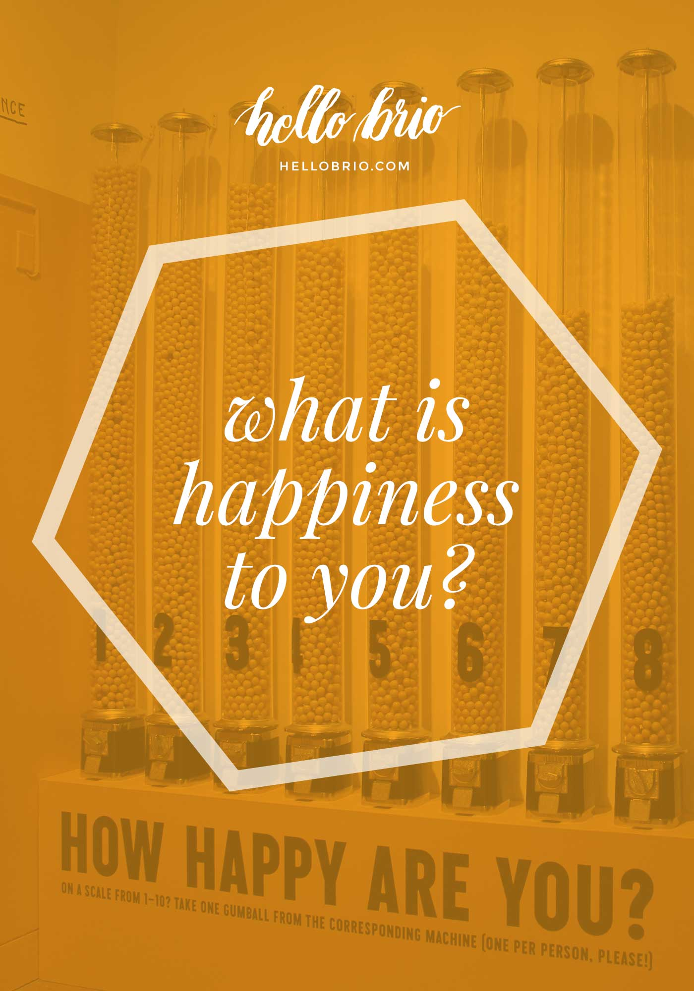 What is happiness to you?