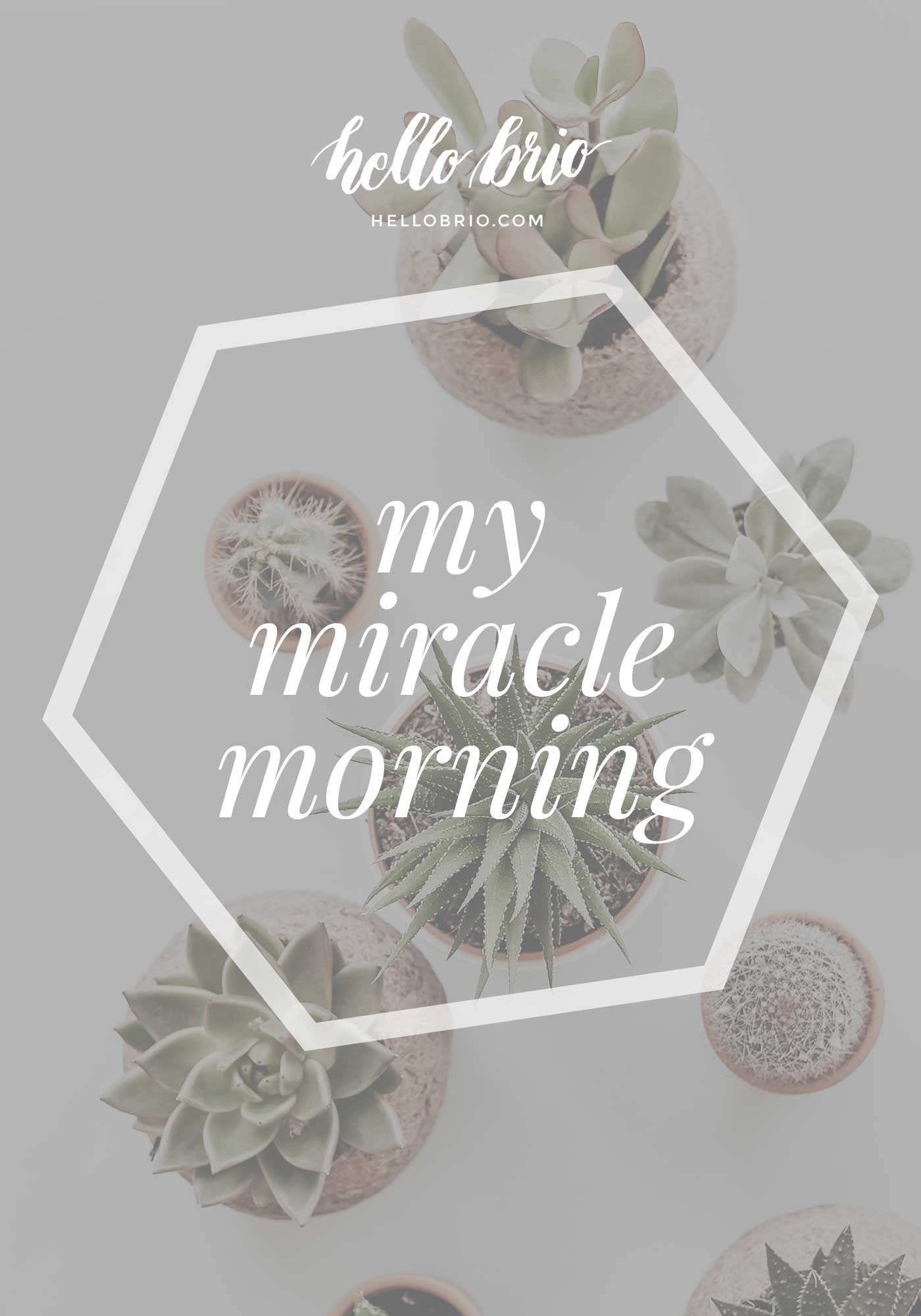 My miracle morning via Hal Elrod | Productivity and creative energy | Hello Brio