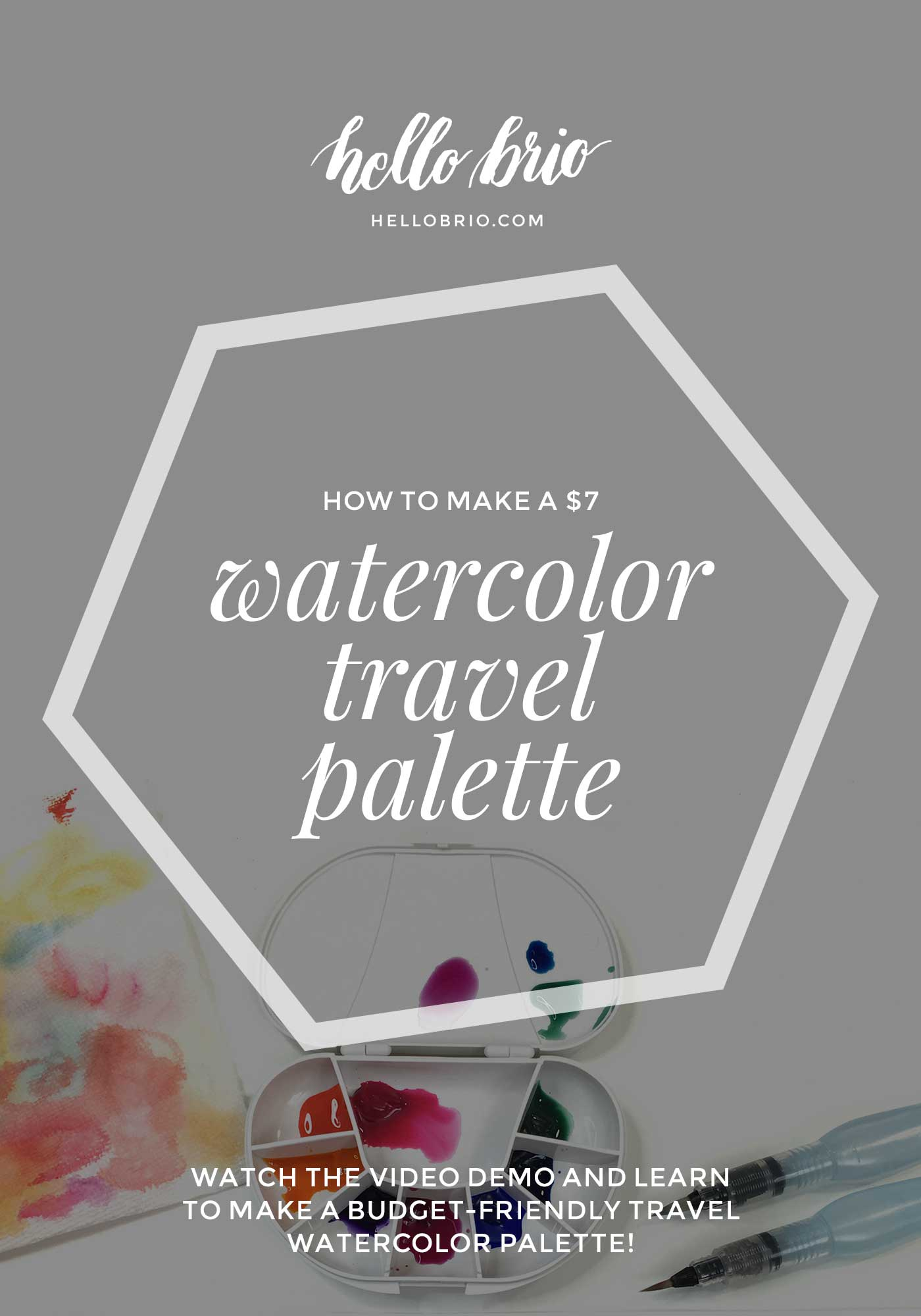 How to make a $7 watercolor travel palette