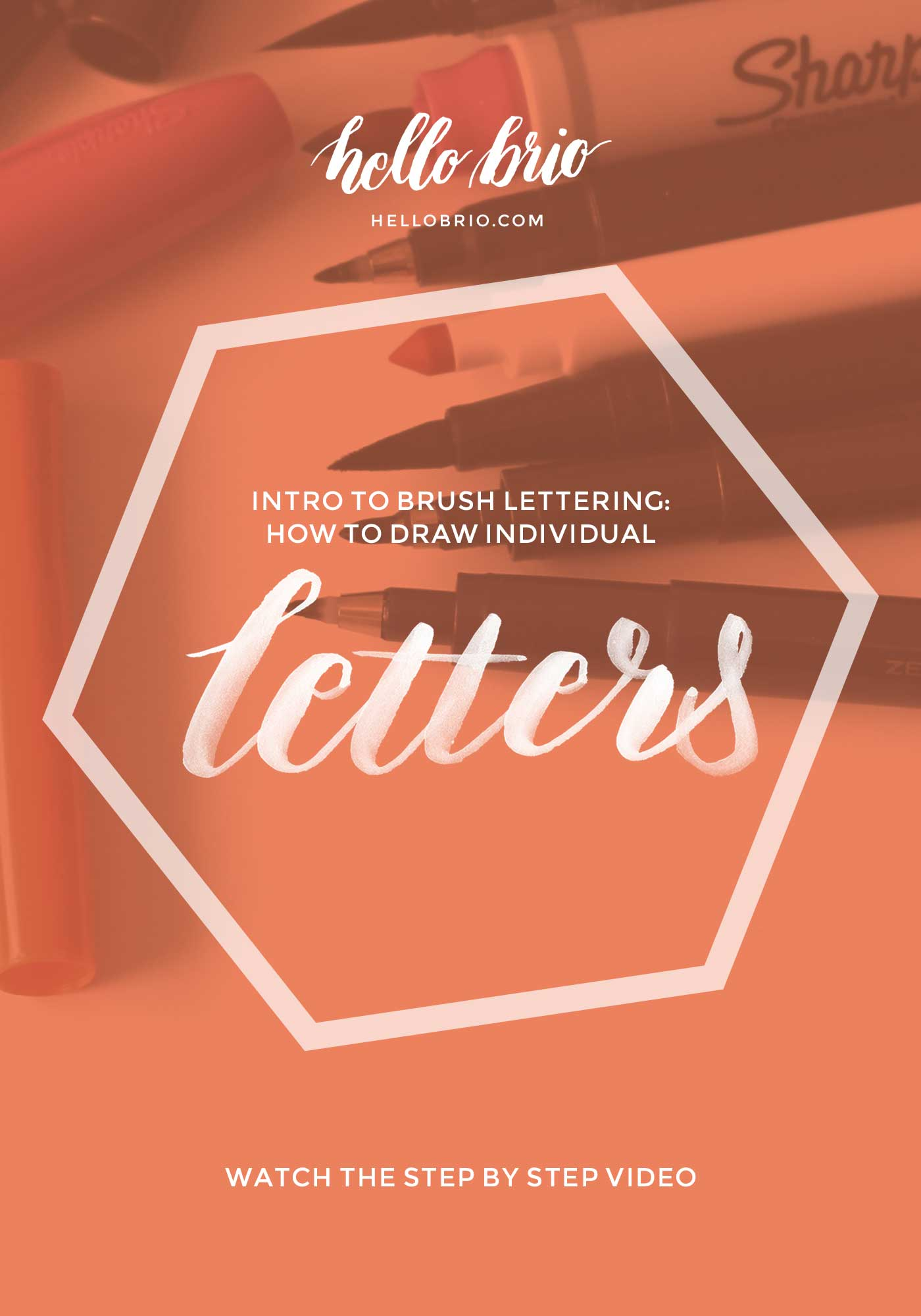 Intro to brush lettering: How to draw individual letters