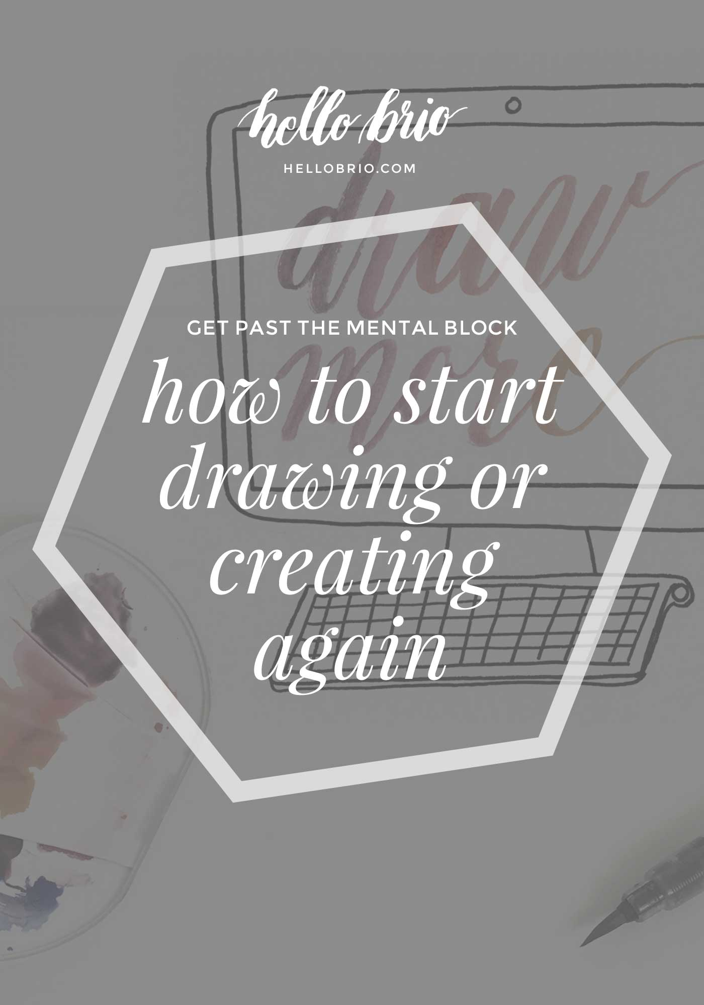 How to start drawing or creating again