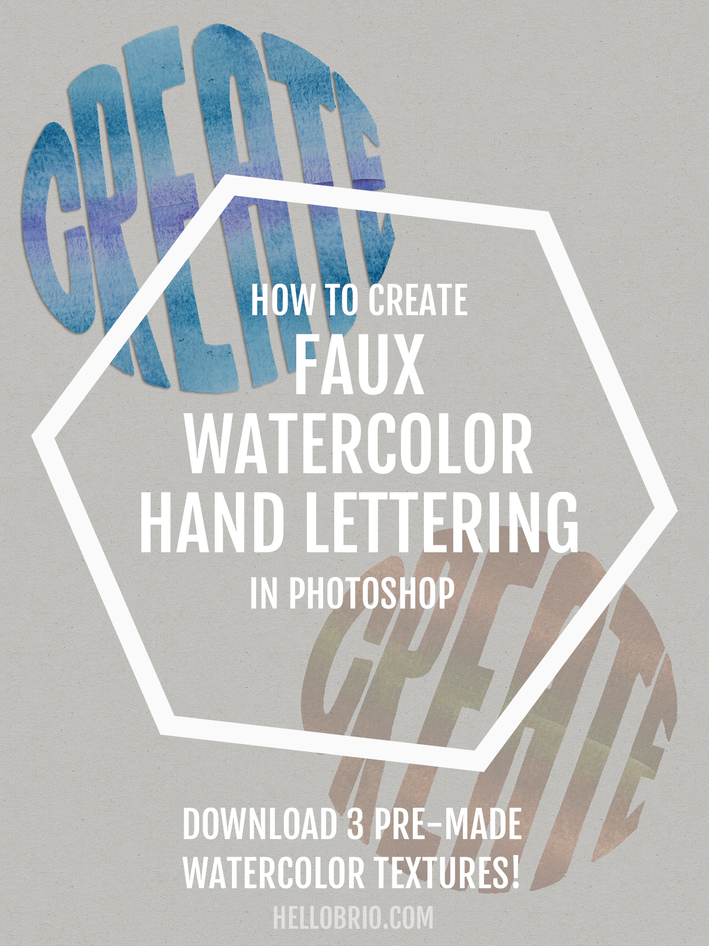 How to create faux watercolor hand lettering in Photoshop