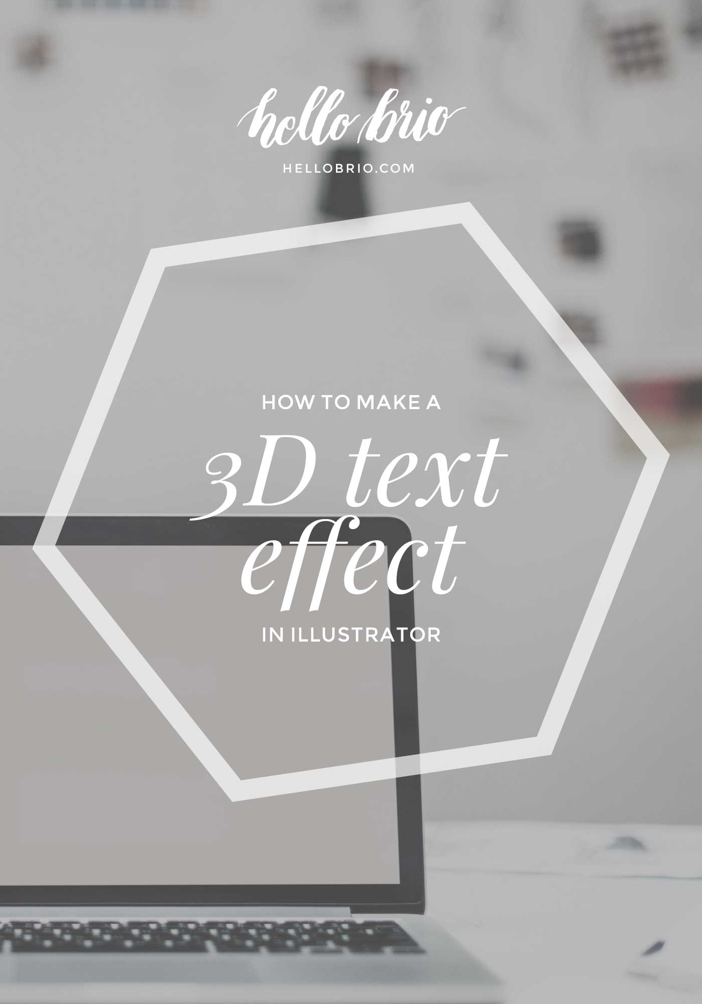 How to create 3D hand lettered text in Adobe Illustrator - a fun and easy tutorial