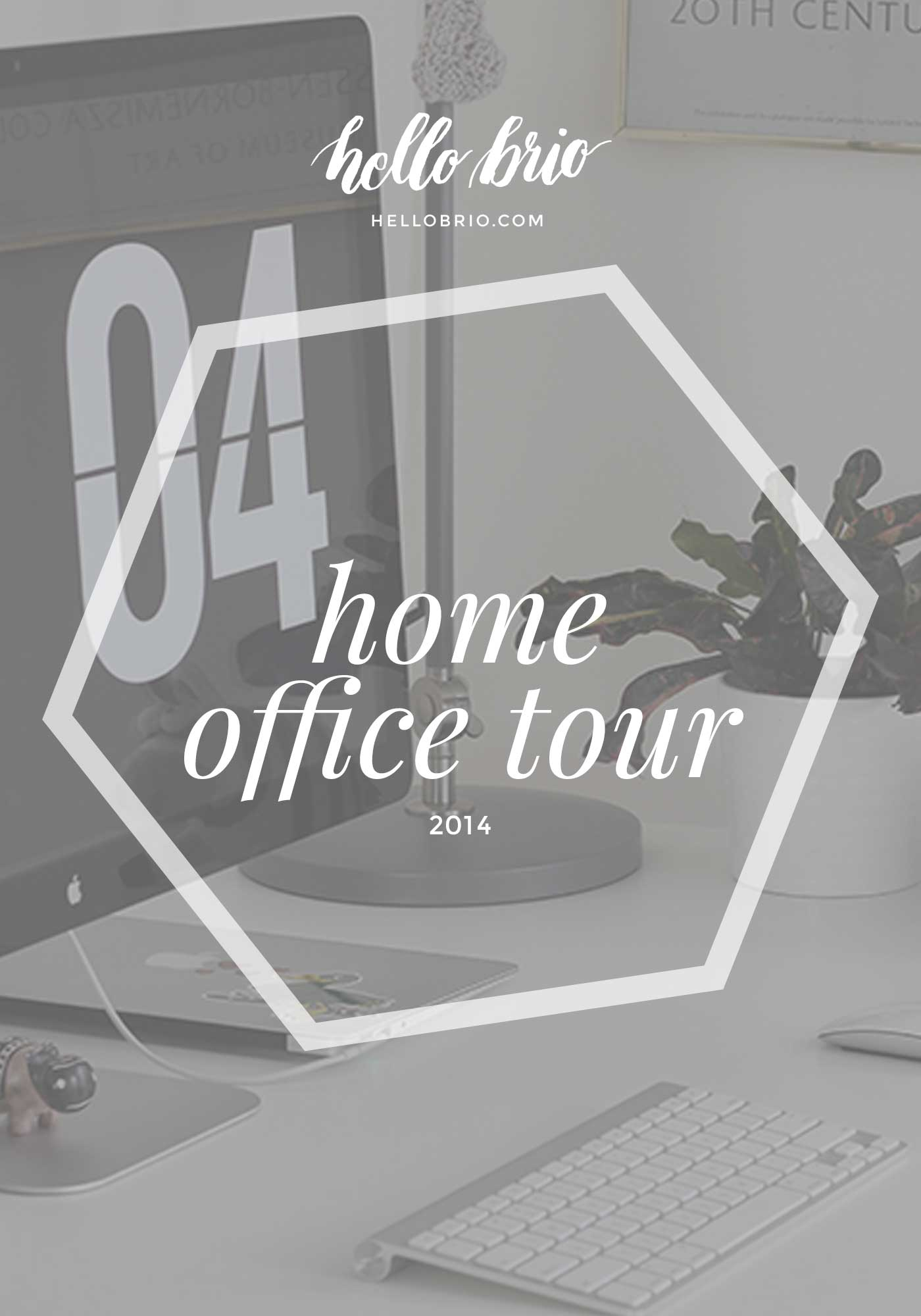 Home office tour 2014
