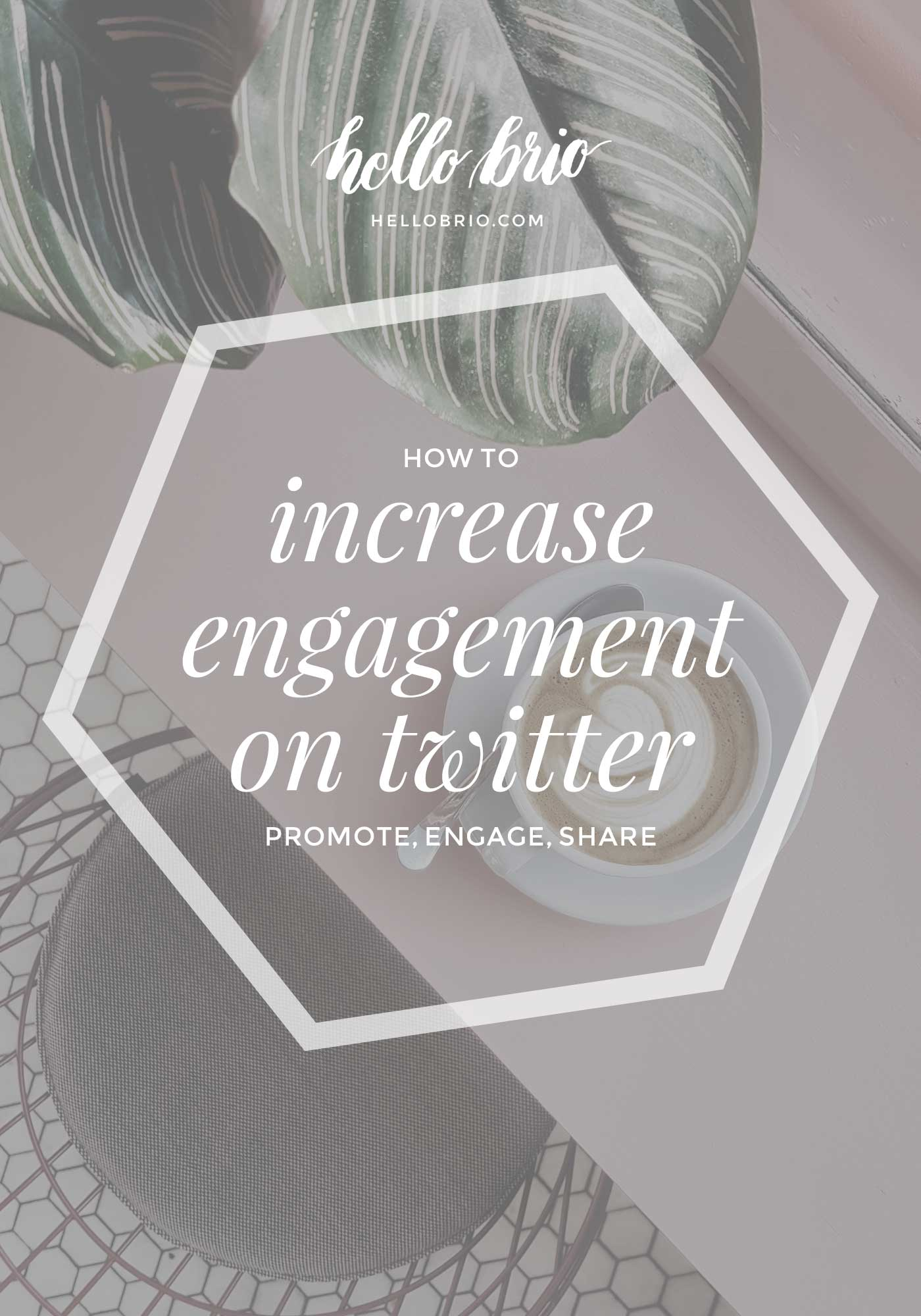 """""""How to promote your posts on twitter the right way - Social Media and Content Marketing tips on HelloBrio.com"""