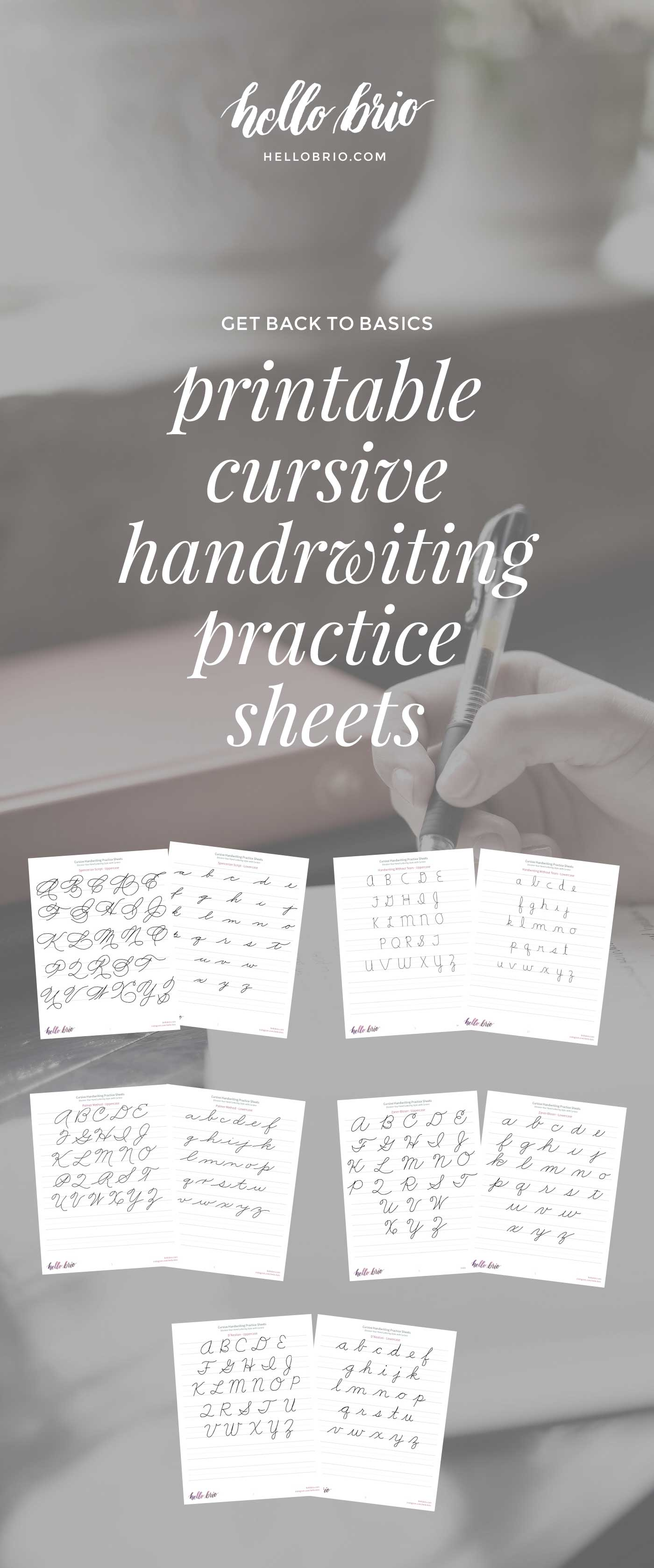 discover your hand lettering style with cursive hello brio. Black Bedroom Furniture Sets. Home Design Ideas