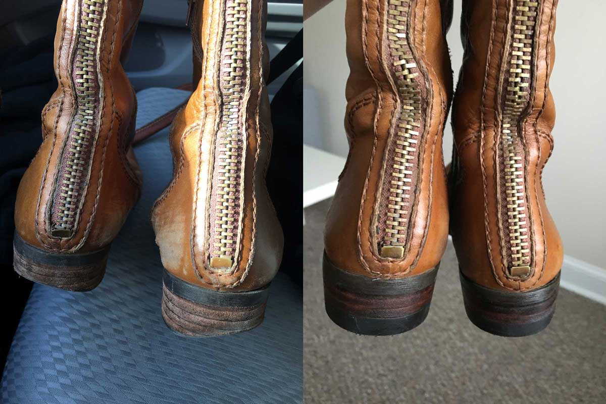 Boot repair before and after