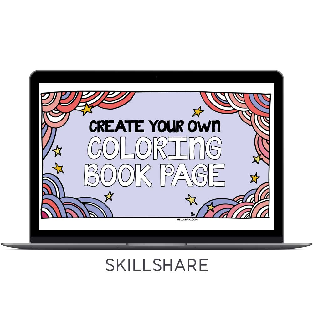 Doodle Time! Make Your Own DIY Coloring Book Page for Watercolors