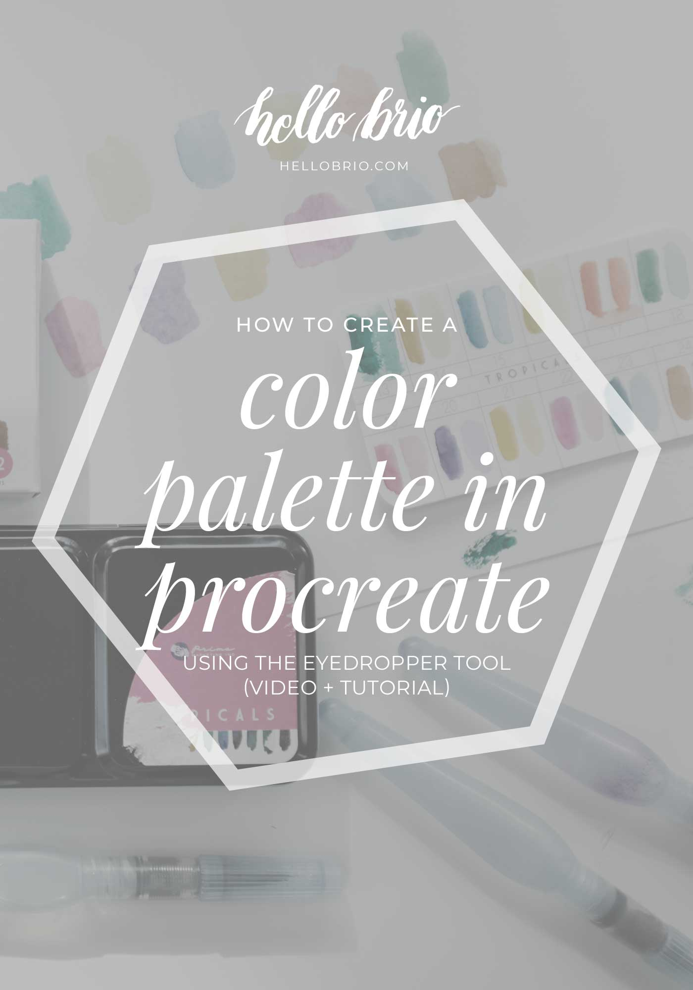 How to create a color palette in Procreate using the eyedropper tool | Hello Brio