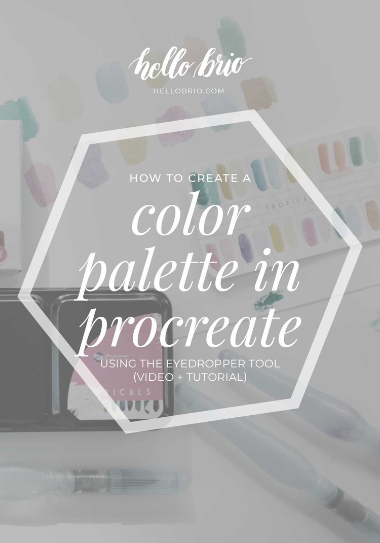 41ca910b3 How to create a color palette in Procreate using the eyedropper tool |  Hello Brio
