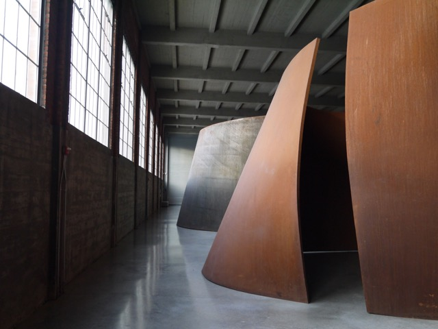 Torqued Ellipses, the long-term  exhibit  of work by American Sculptor  Richard Serra  at the  Dia:Beacon  art center on the banks of the Hudson River in Beacon, New York.