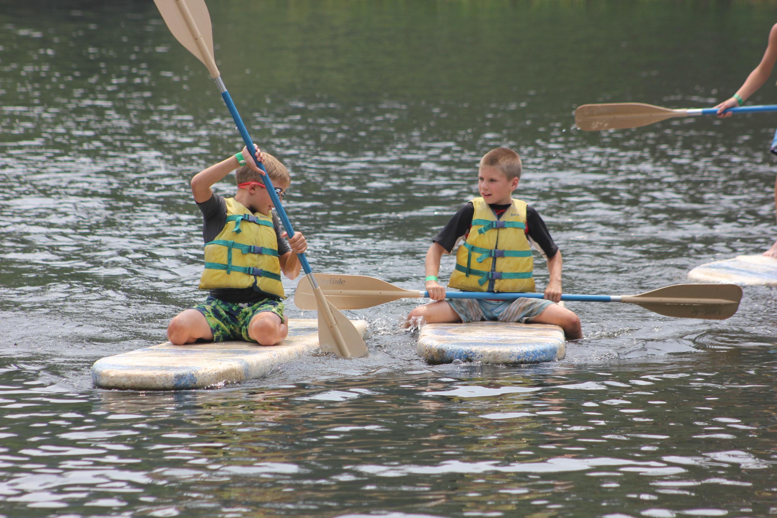 Paddleboards on Upper Pond