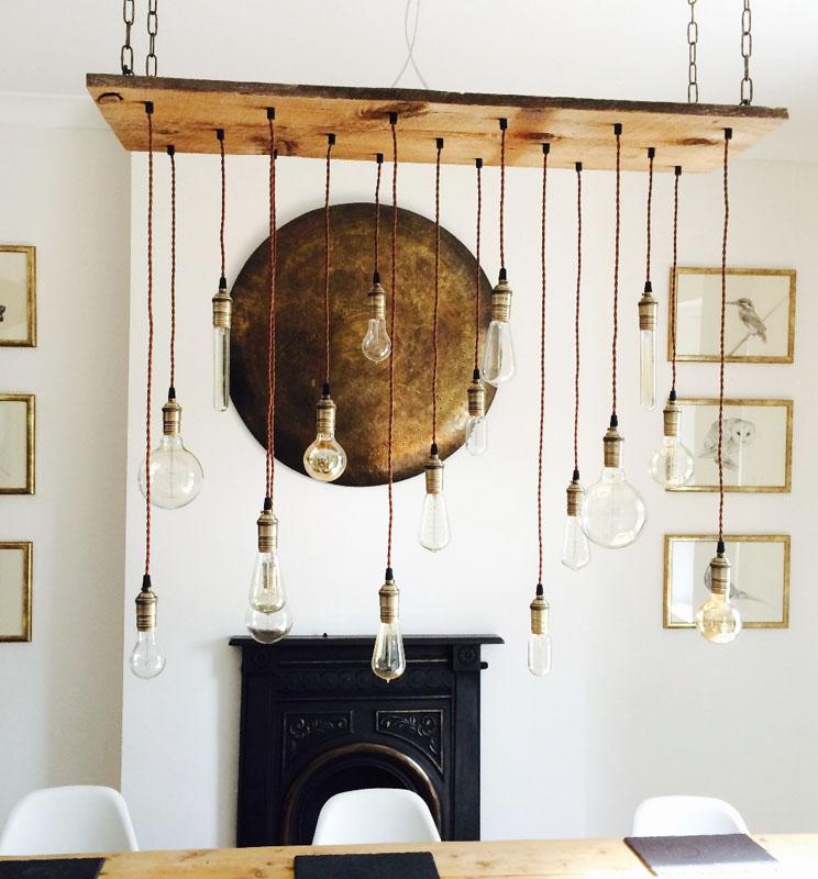 Wood Chandelier for Hangout Lighting