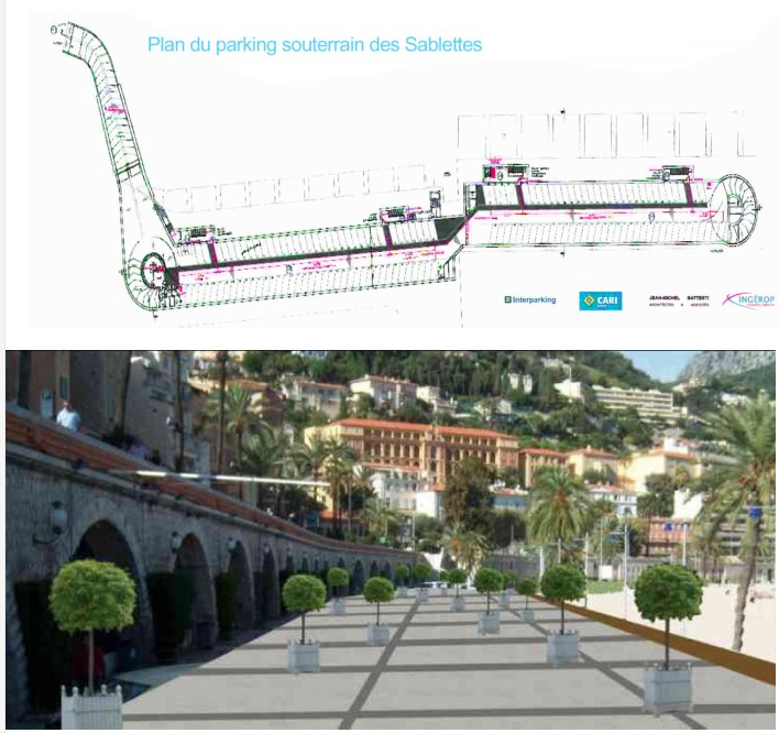 This new underground parking, when finished, is going to change Menton.  It should be ready mid 2016.