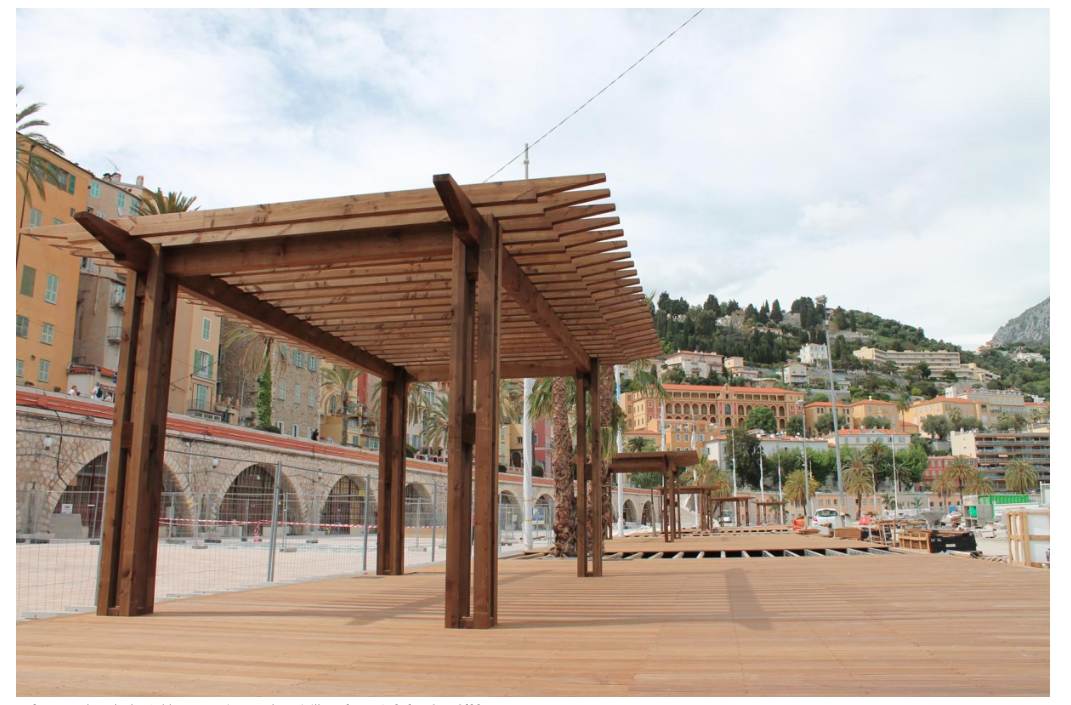 The new Esplanade des Sablettes on the Menton waterfront, due to be inaugurated in July 2018