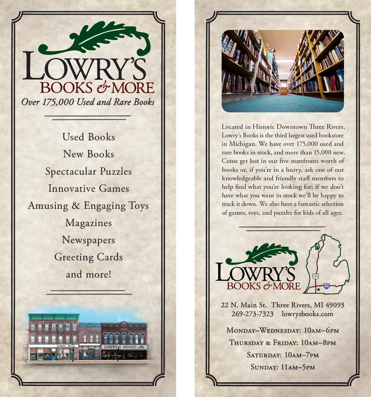 Lowry's Rack Card