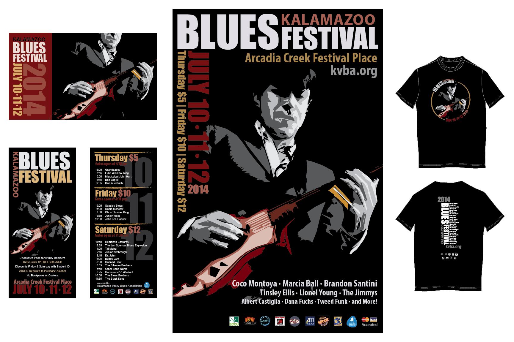 Visual Identity — Blues Fest 2014