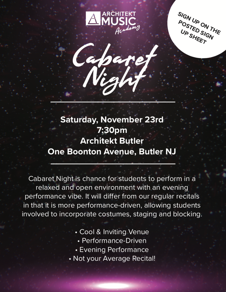 Cabaret Night Fall 2019