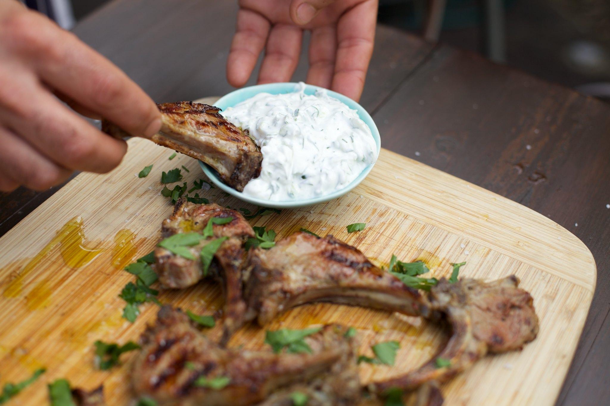 FAISAL' S DELICIOUS PAIDAKIA (BBQ LAMB CHOPS THE GREEK WAY)