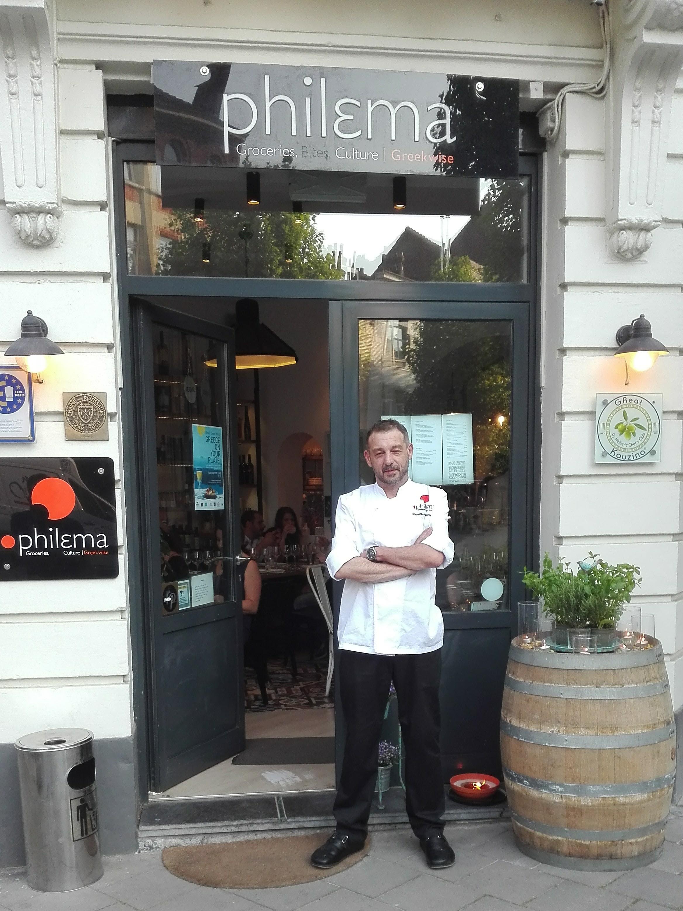 """Ο Μάνος Μακρυγιαννάκης σεφ και ιδιοκτήτης του εστιατορίου """"Philema"""" στις Βρυξέλλες"""