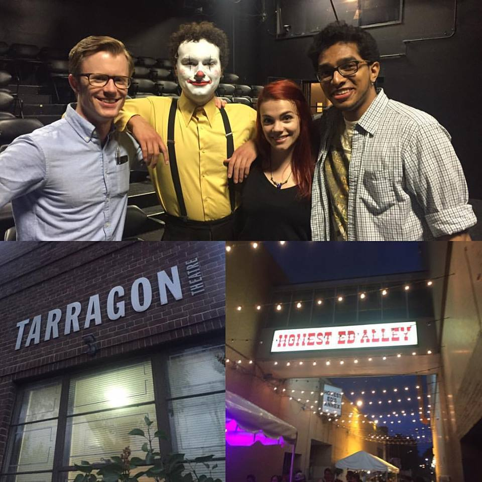 Actors & A.D/S.M Chin Palipane after opening night of  LIKE A GENERATION  at the Tarragon Theatre, Fringe 2016.