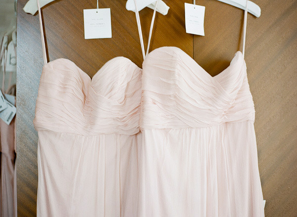 The base of the bridesmaid's dress was similar to this one from Amsale.  {photo via stylemepretty.com}
