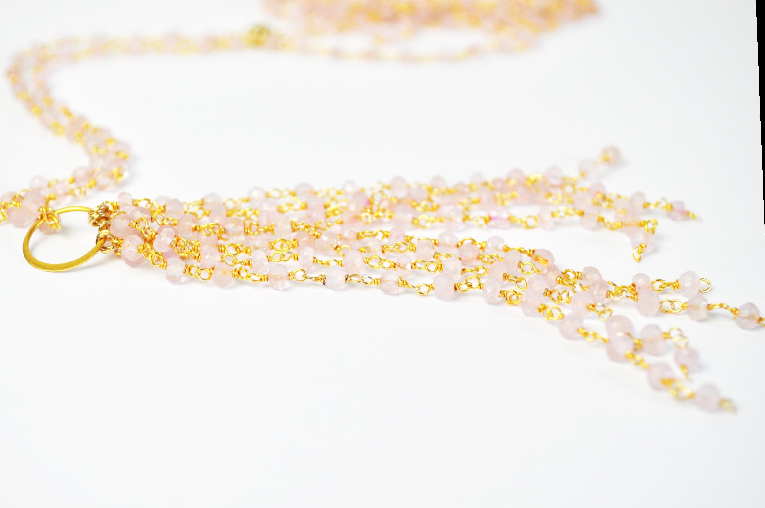 Rose Quartz Tassel and Necklace