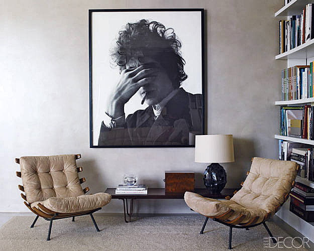 Andrew Rosen and  Jenny Dyer  's Manhattan apartment, featured in Elle Decor