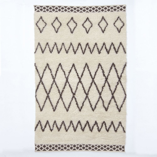 West elm Kasbah Wool Rug Ivory