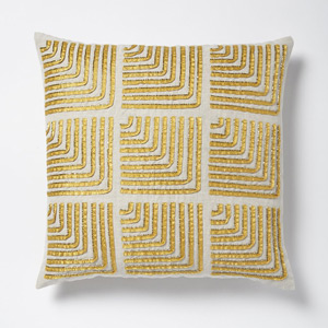 West Elm Beaded Corners Cushion cover - Horseradish