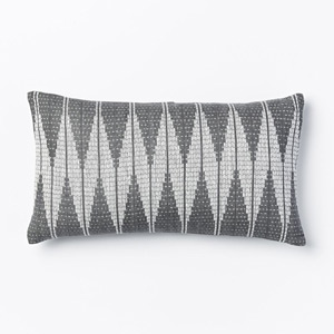 West elm Hand loomed diamond pillow cover slate