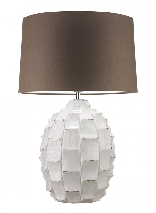 Heathfield & Co Bayern Table Lamp Ivory