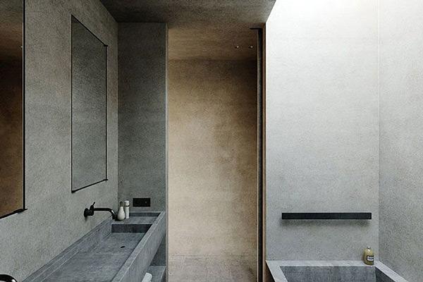 S house, Nicolas Schuybroek, Cap d'Antibes, Patzer, black bathroom fixtures