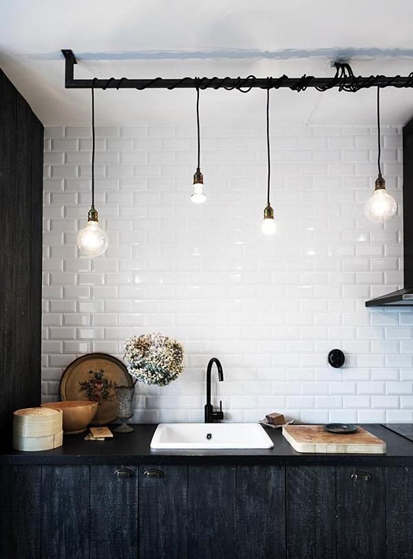 Black kitchen and bathroom fixtures, remodelista