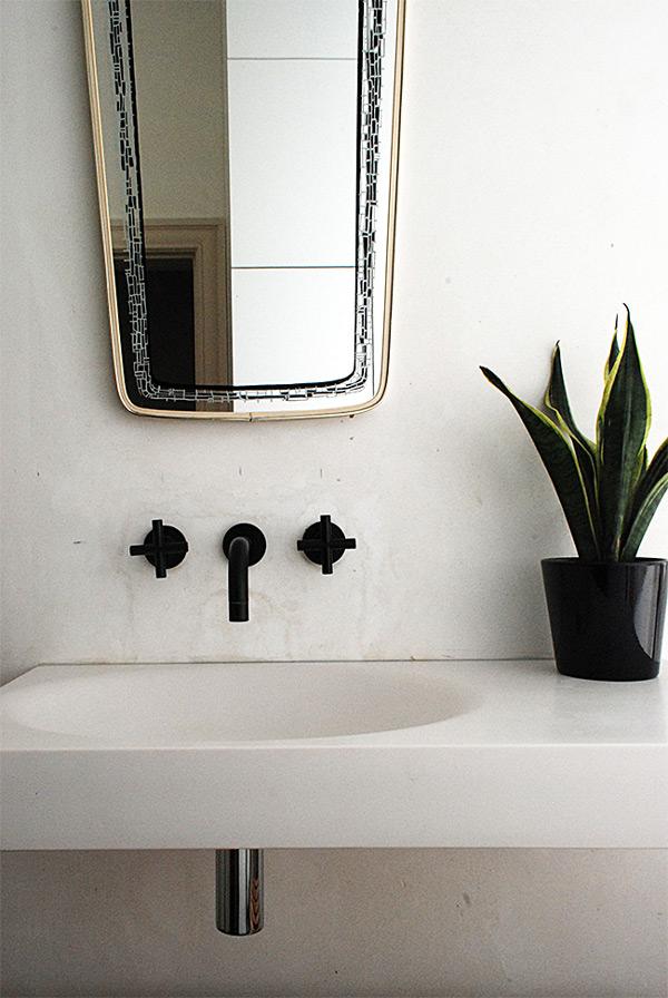 Black bathroom and kitchen fixtures