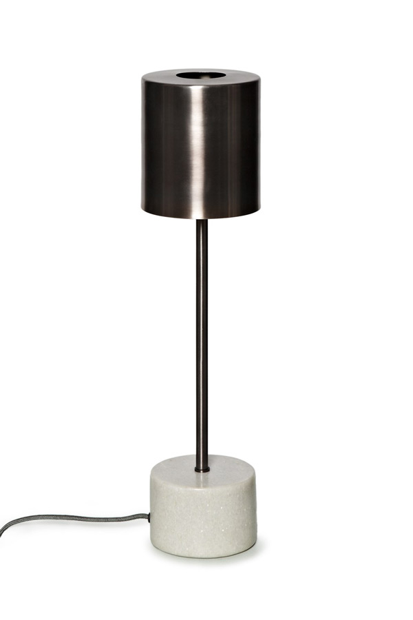 Marbleised Tample lamp, French Connection