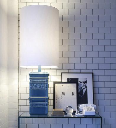 Lee Broom Large Blue Tile Lamp, Heals