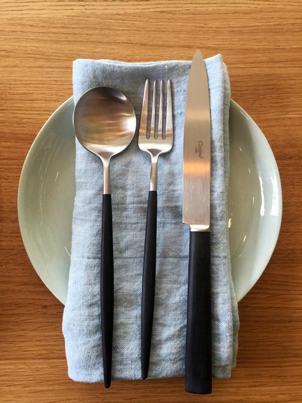 Mud Australia, London Store, pistachio, Knives and plates , homewares, porcelain