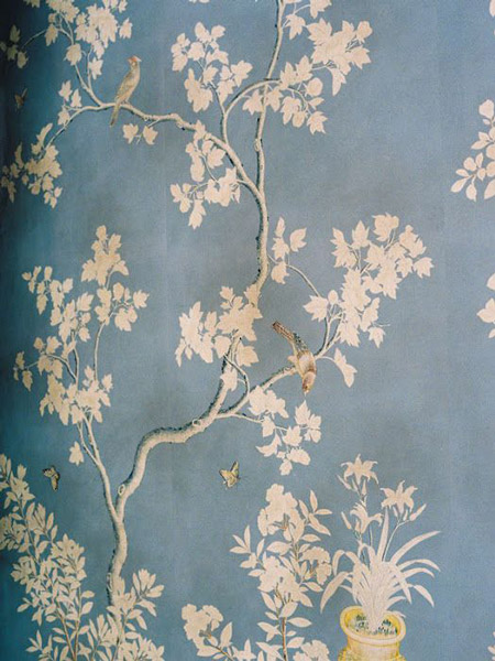 Inky blue, chinoiserie