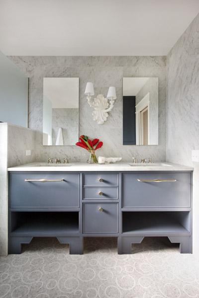 Jenny Wolf, Lonny Magazine, Long Beach Island Summer beach house, bathroom