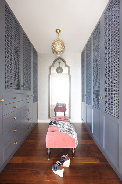 Jenny Wolf, Lonny Magazine, Long Beach Island Summer beach house, closet, wardrobe