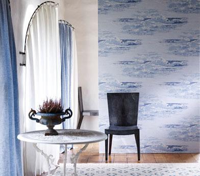 Osborne and Little, Pasha Wallpapers, Marmara, blue