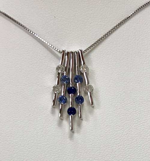 fc28d09ff2c Blue Sapphire - Necklaces, Earrings & Bracelets — Trillion Jewels