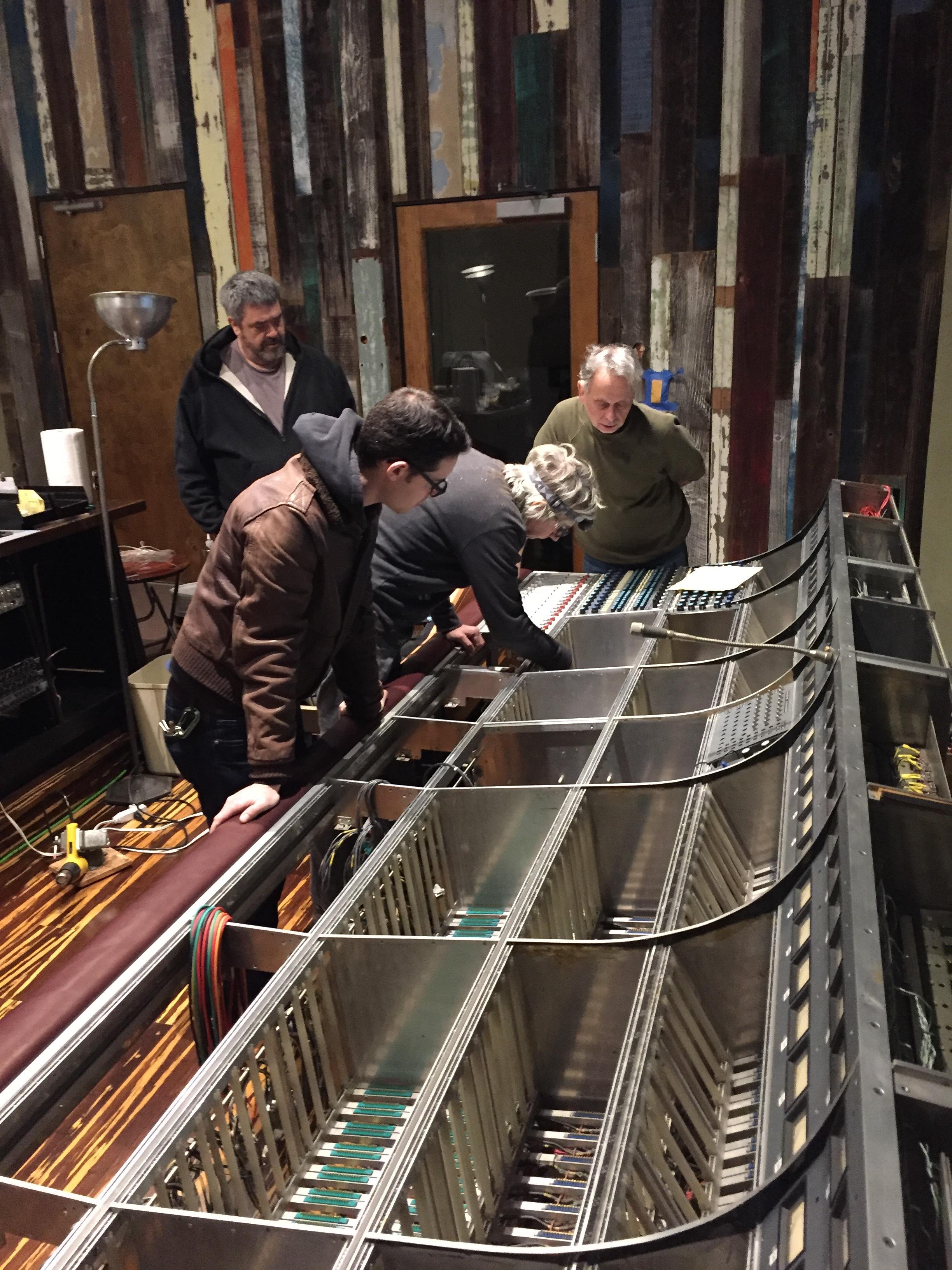 Dave, Jacob Winik, John Vanderslice, Garry Creiman at Tiny Telephone