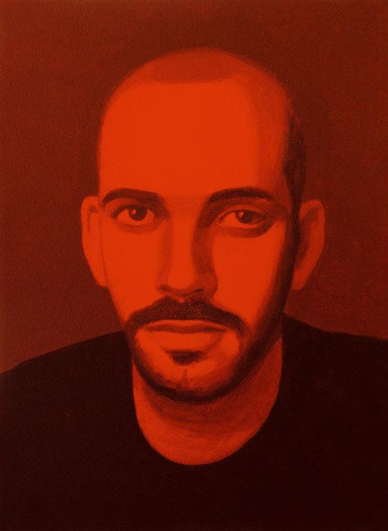 Autorretrato rojo, 2004