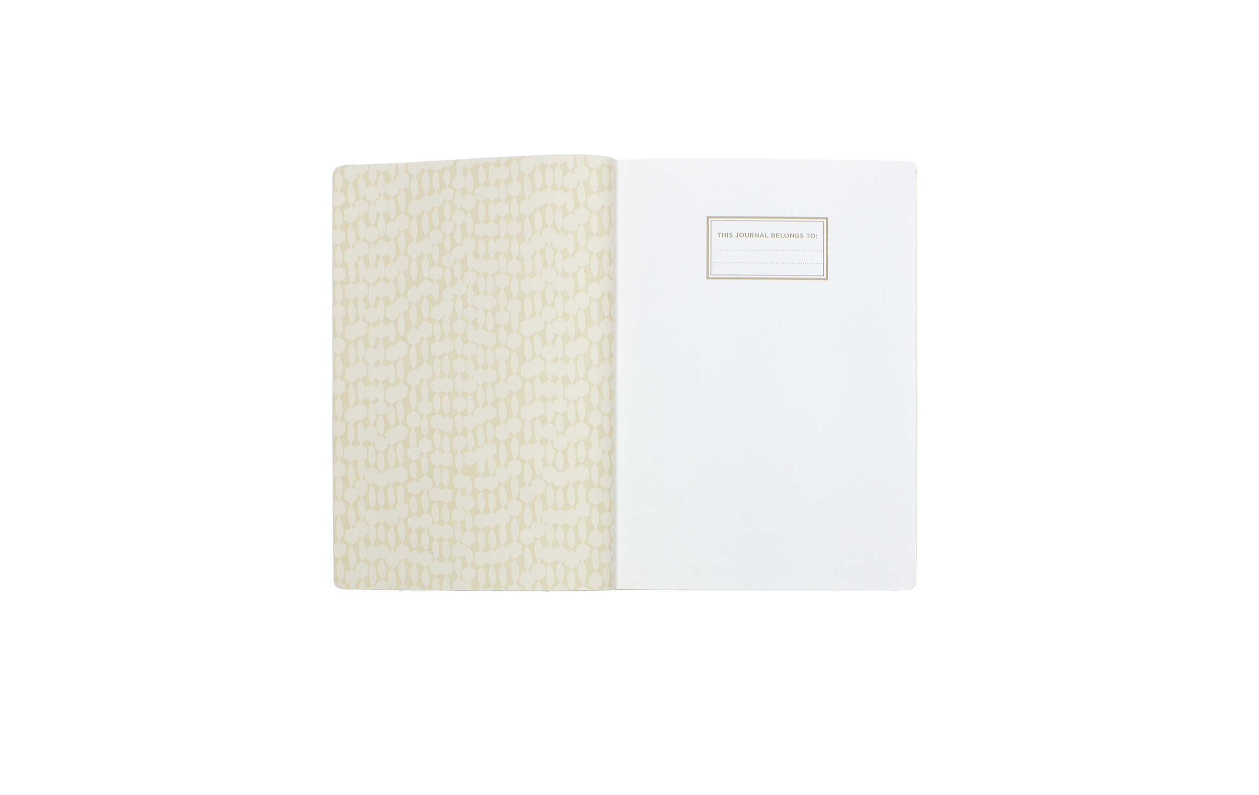 Gold Pattern Leather-Look Journal // Greenroom, available at Target