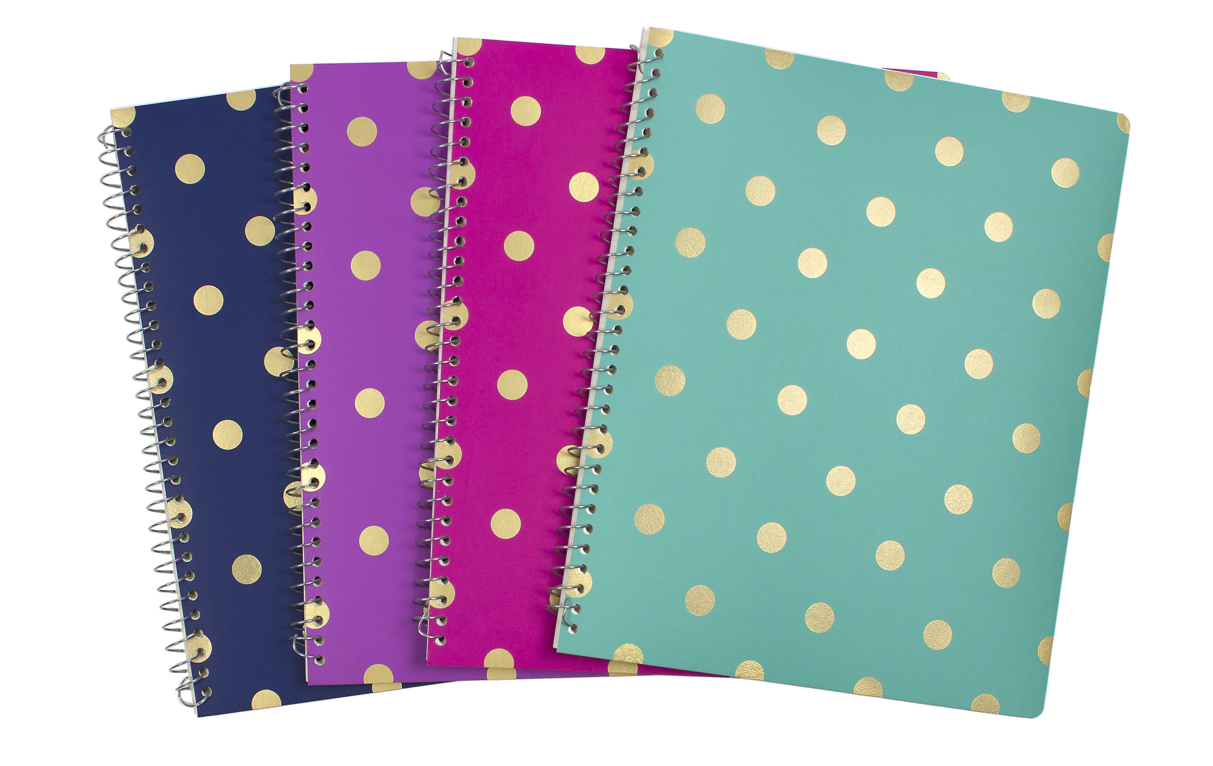 1-Subject Notebook Gold Metallic Dots // Greenroom, available at Target.