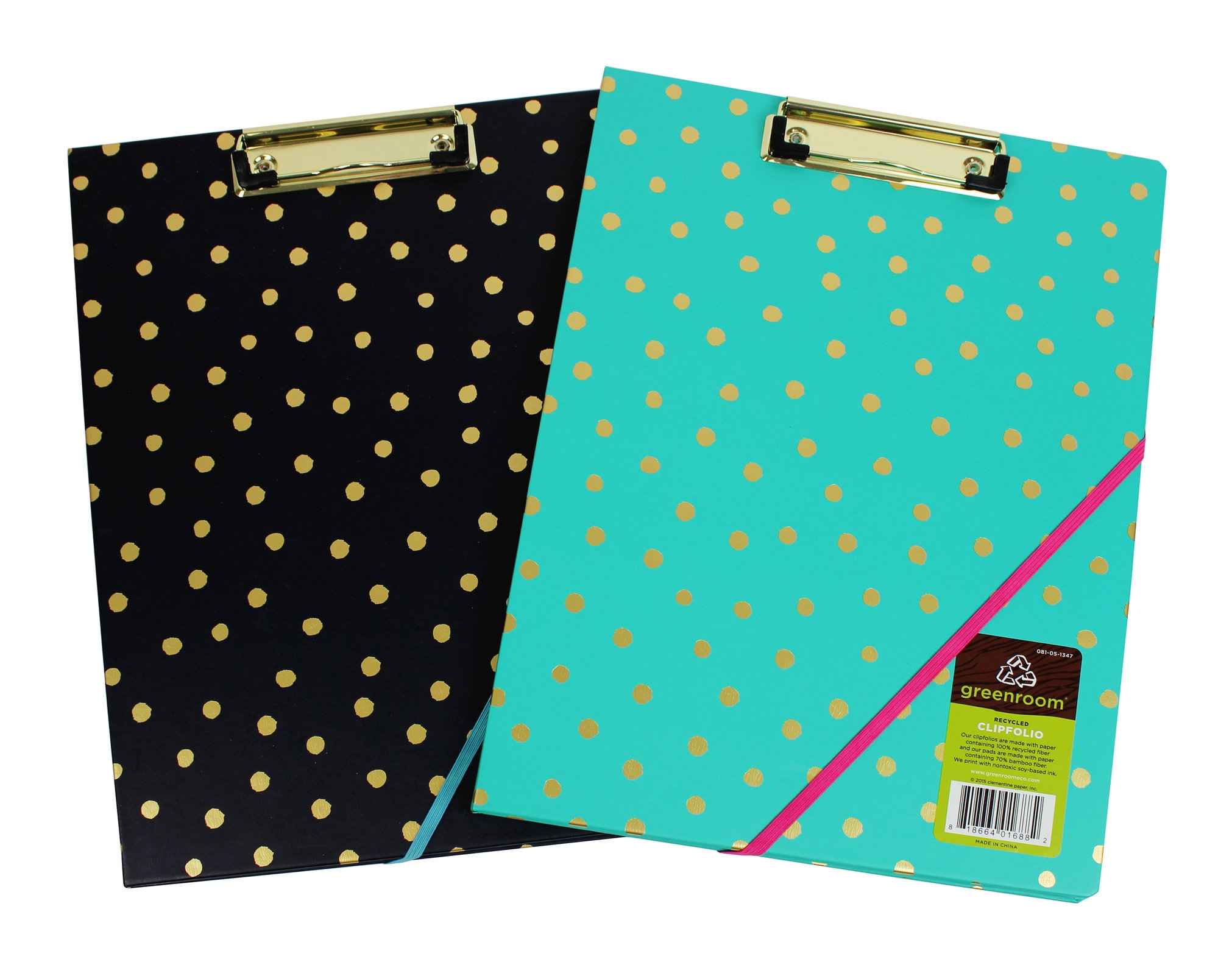 Clipfolio with Gold Metallic Dots // Greenroom, available at Targetots