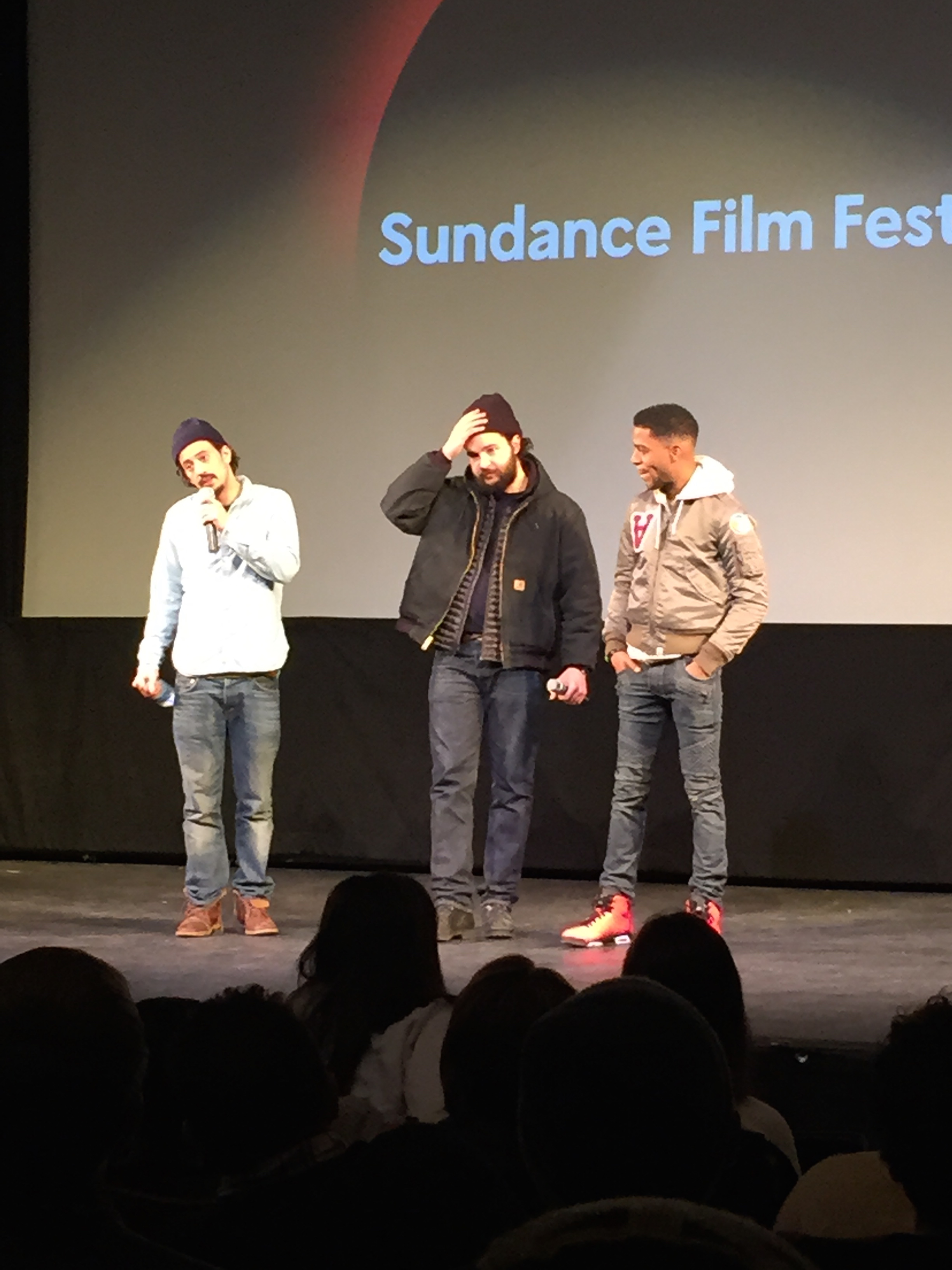 James White screening at the Egyptian. With director Josh Mond and actors Christopher Abbott and Kid Cudi