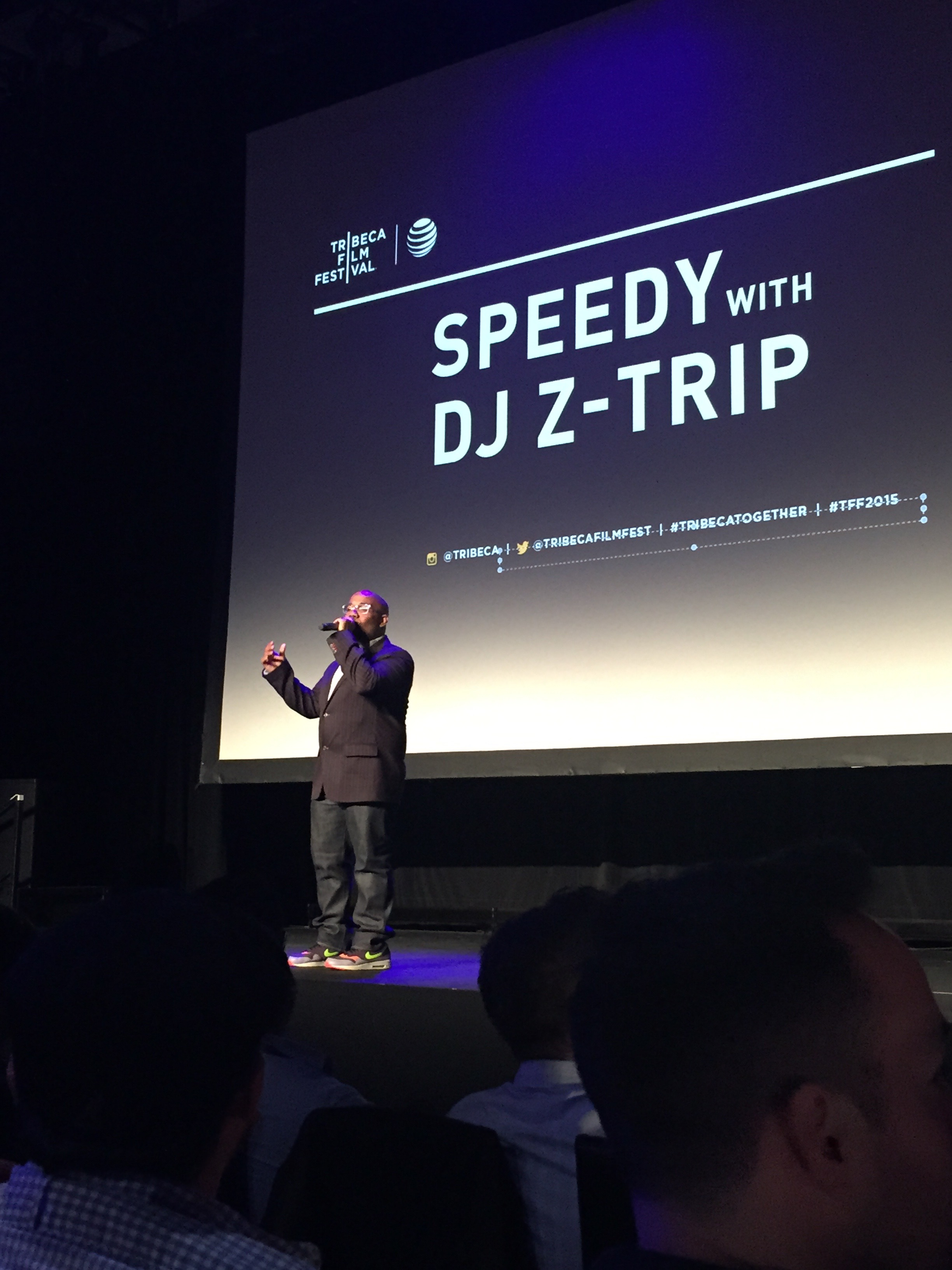 Probably my favorite event of the festival! Loren Hammonds introducing the 1920's silent film Speedy with a live score by DJ Z-Trip!